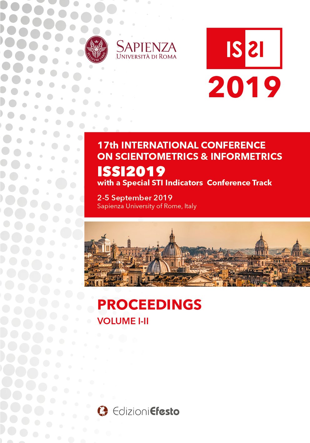 Copertina di PROCEEDINGS OF THE 17TH CONFERENCE OF THE INTERNATIONAL SOCIETY FOR SCIENTOMETRICS AND INFORMETRICS